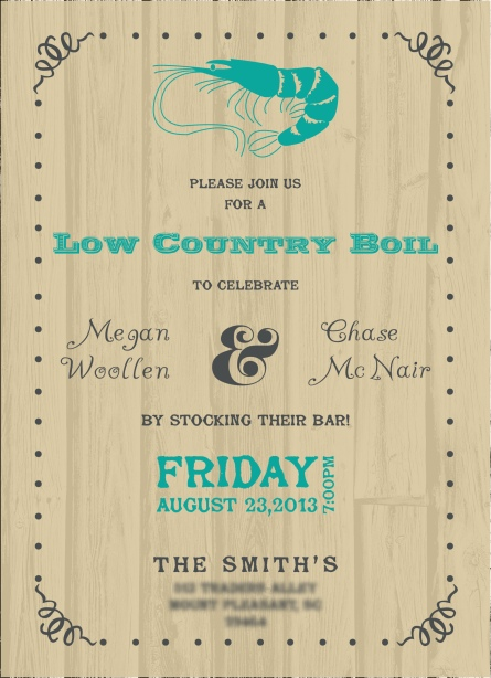 Low Country Boil Invite