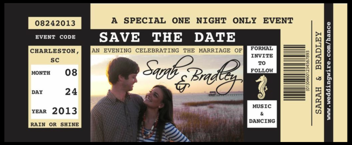 Bradley and Sarah's Save the Date for their Charleston Wedding