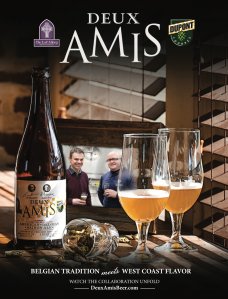 Deux Amis Ad featured in Beer Advocate and Craft Beer & Brewing magazine